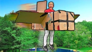 FLYING BOX FORT AIRPLANE!! 📦✈️