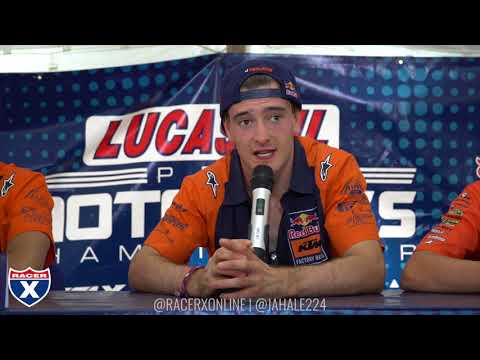 Racer X Films: Ironman 2017 450 Press Conference | Jeffrey Herlings, Marvin Musquin, Blake Baggett