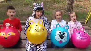 Kids play with ZEBRA Funny BALLS Kids Video Good Song for Kids JoyJoy Lika