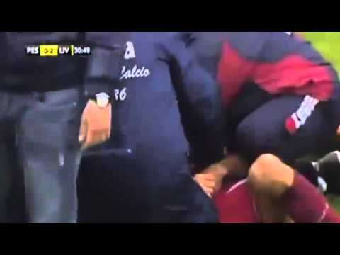 Live Moment Piermario Morosini Collapsed on Pitch
