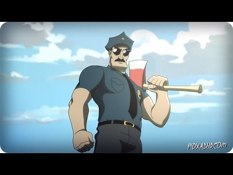 AXE COP AMERICAN PSYCHO OPEN | ANIMATION DOMINATION HIGH-DEF