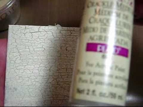 How to create a crackle paint finish! (Vid #181)