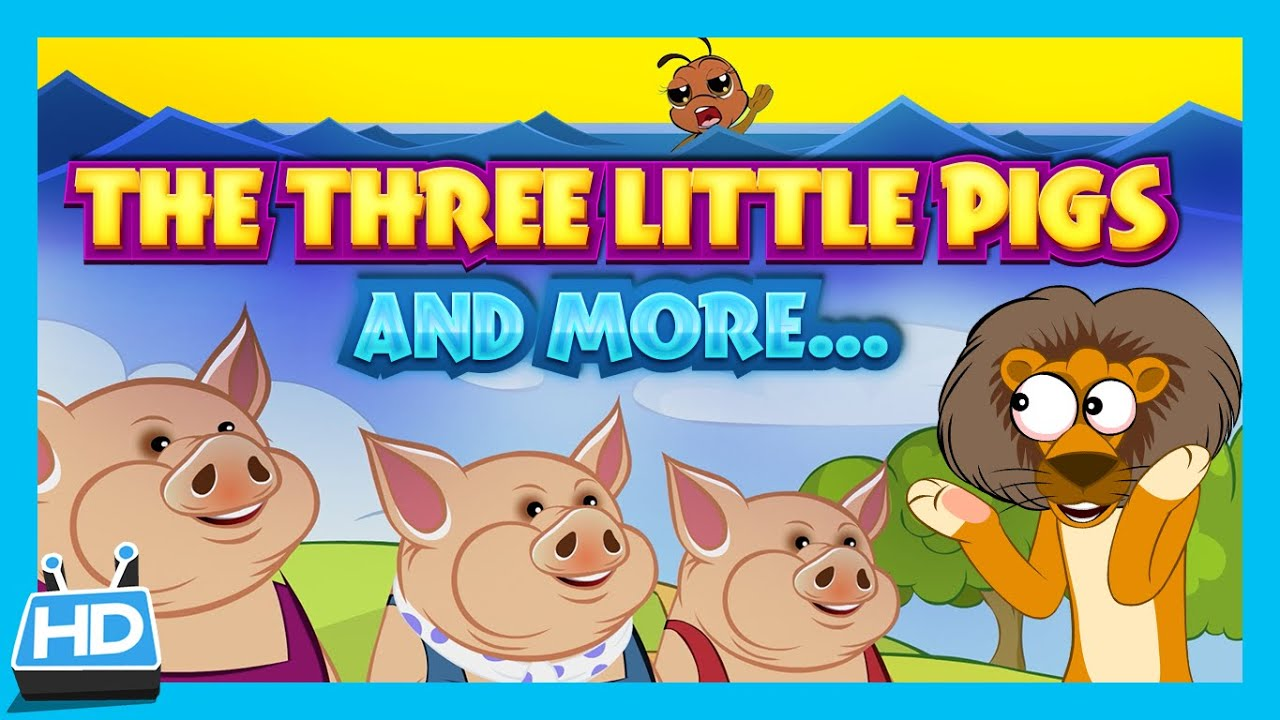 Three little pigs story dove and ant story lion and mouse story