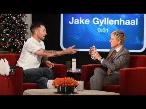 Adam Levine Plays 'Heads Up!'