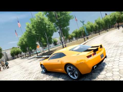 GTA 4 with Anti Aliasing - Chevy Camaro HQ - Bumble Bee