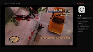 Grand Theft Auto 3 shooting back at the cops gameplay vol.736 Youtube live PS4