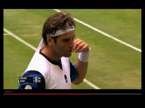 Federer vs Jaziri Highlights Halle 2016