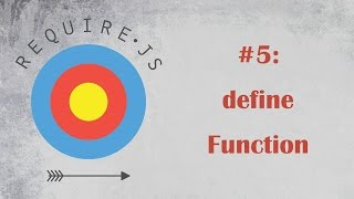 RequireJS Tutorial 5: define Function