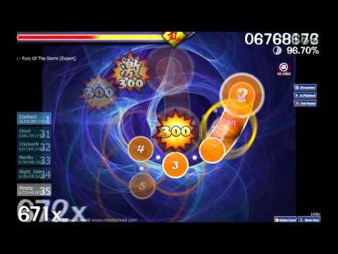 Osu! Dragonforce - Fury Of The Storm [expert] video