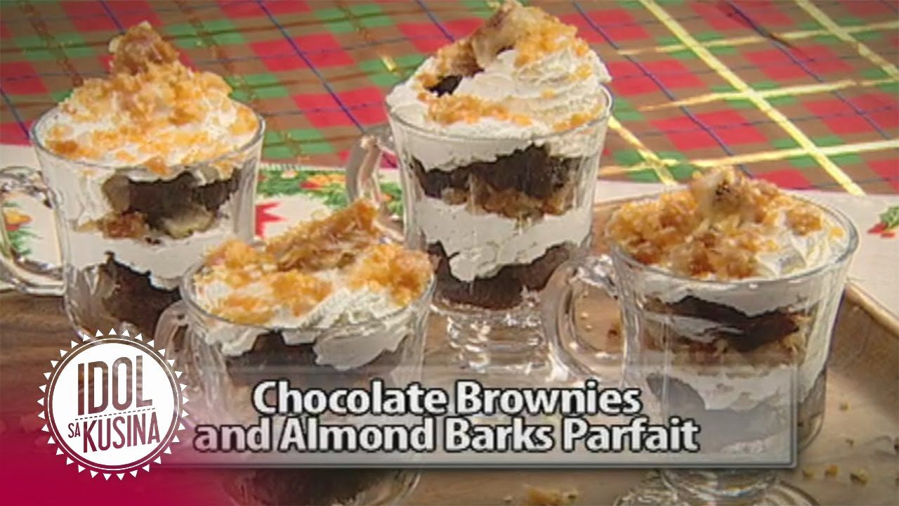 Idol sa Kusina recipe: Chocolate Brownies and Almond Barks Parfait