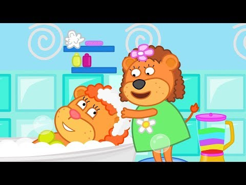 Lion Family Fancy Hairstyle Cartoon for Kids
