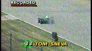 Auto Racing - 1987 - Indy 500 Special Feature - Driver Tom Sneva Hits The Wall And Ends His Day
