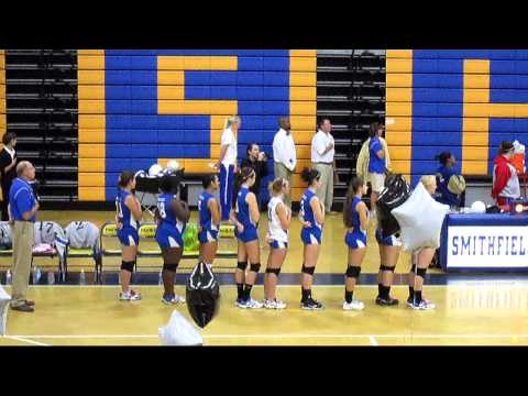 Bria Kelly - National Anthem - Smithfield High School Girls Volleyball Senior Night
