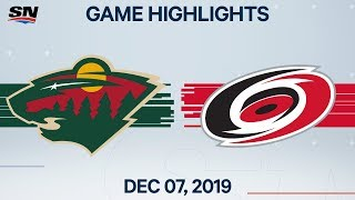 NHL Highlights | Wild vs Hurricanes – Dec. 7, 2019