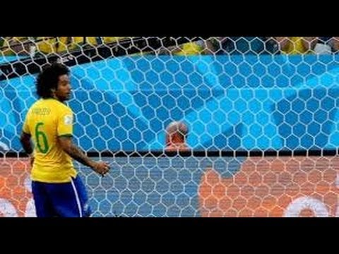 Marcelo own goal on fifa worldcup 2014 Brazil vs croatia [0:1]