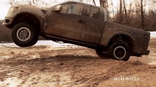 2013 Ford F-150 Raptor SVT Supercab pickup truck - Offroading video