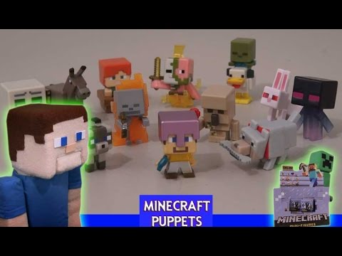 Minecraft Toys Series 5 Ice Set Unboxing Mini Figures Puppet Steve Review