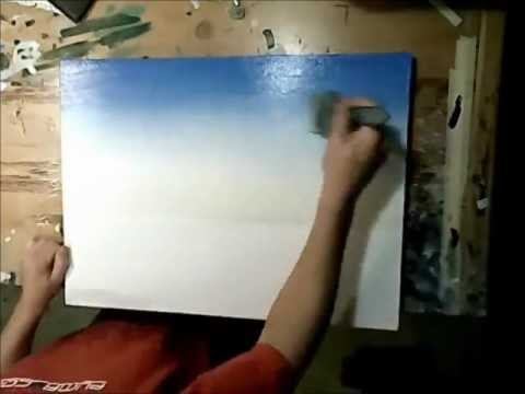 Art Lesson: How to paint a sky using acrylics