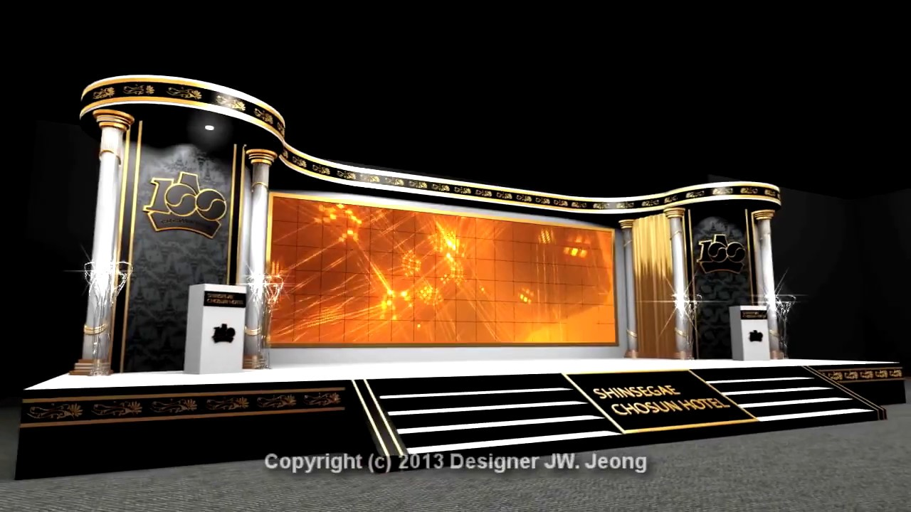 my Stage Design Use 3d Max