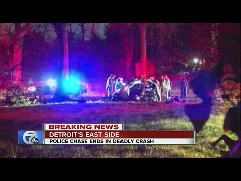 1 killed in accident following police chase in Detroit