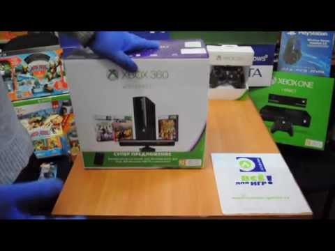 Распаковка Xbox 360 E 500 Gb плюс Kinect и три игры (диск 500 Гб в комплекте)