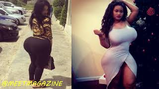 Linda is ALL NATURAL! Real body, real curves! HOT African model from Liberia's secret is SQUATS!
