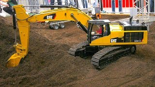 RC MODEL TRUCKS, RC MACHINES, RC DOZER, RC EXCAVATORS AT WORK ON CONSTRUCTION SITE!!