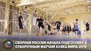 Сборная России начала подготовку к отборочным матчам Кубка мира 2019