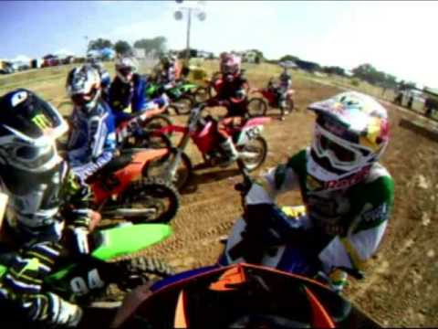 James Stewart Ride Day at Oak Hill MX - - Carter York Helmet Cam Video