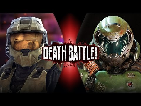 DEATH BATTLE! - Master Chief VS Doomguy