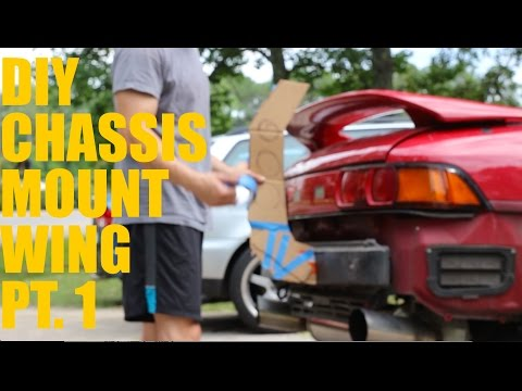 DIY Car Projects: DIY Chassis Mount Wing Tutorial Pt  1