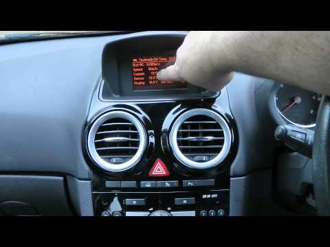 Vauxhall / Opel Hidden Temperature. Battery Voltage. Remaining fuel Display