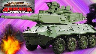ARMADA WORLD OF MODERN TANKS #23 Мульт танки Онлайн игра Боевые машинки.Бои танков Видео для детей