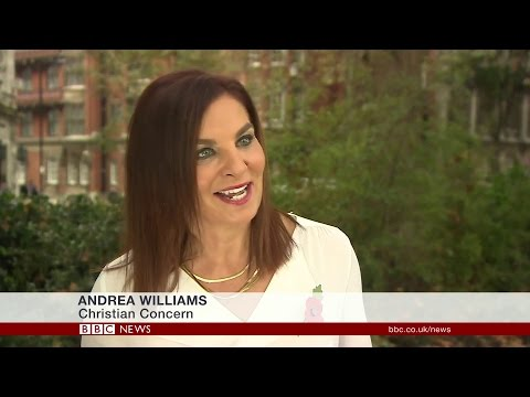 Sperm Bank Opening - Andrea Williams appears on BBC News