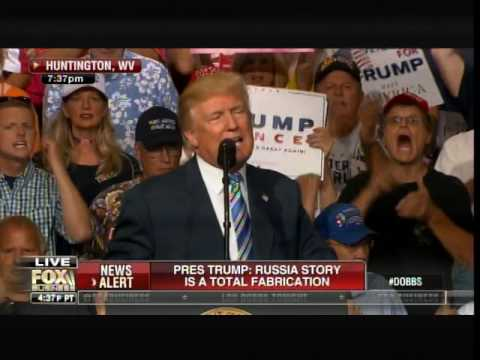 """Trump Goes After Criminal Hillary Clinton at WV Rally: CROWD CHANTS """"LOCK HER UP!... LOCK HER UP!"""""""