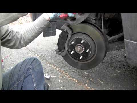Replacing Front Brake Pads on 2008 Toyota Highlander