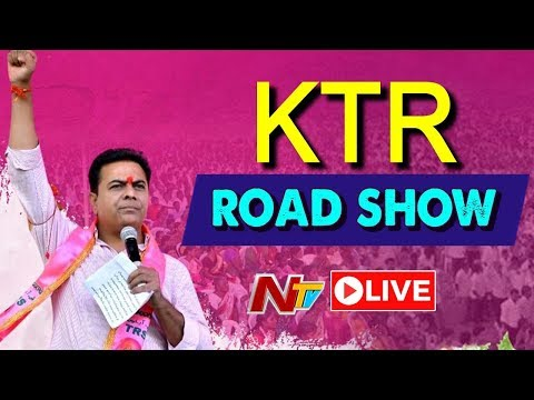 KTR Live | KTR Road Show LIVE From khammam | TRS Election Campaigning | NTV LIVE
