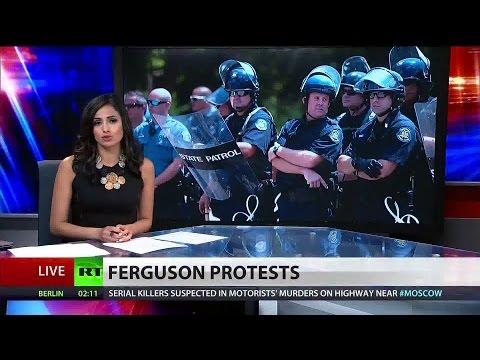 Police arrest Ferguson protesters blocking I-70