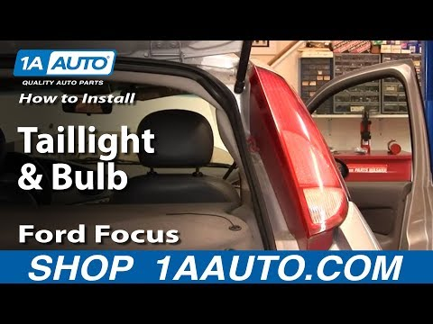 How To Install Replace Taillight and Bulb Ford Focus ZX5 00-04 1AAuto.com