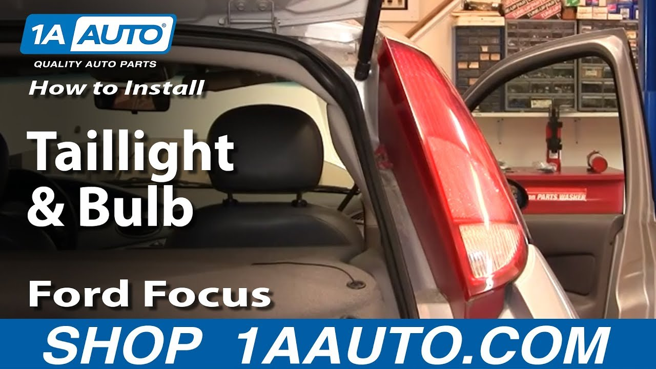 how to install replace taillight and bulb ford focus zx5 00 04 youtube. Black Bedroom Furniture Sets. Home Design Ideas