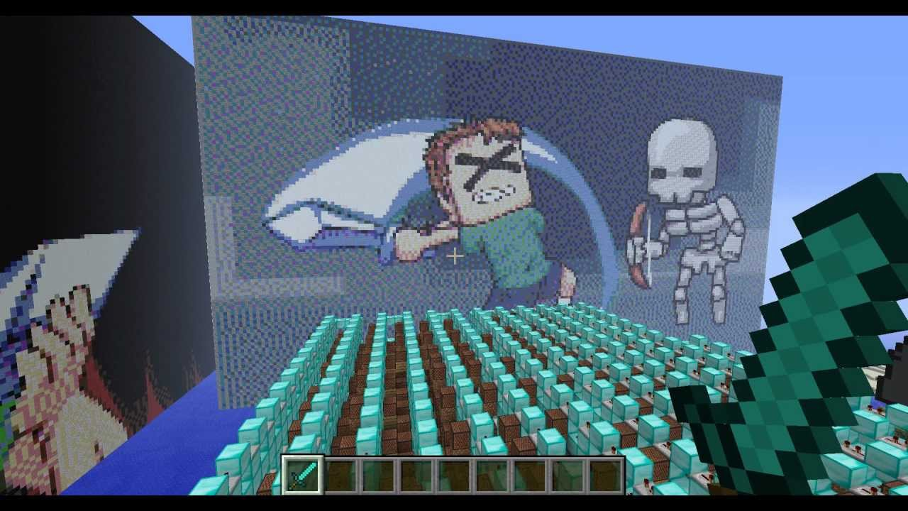 I CAN SWING MY SWORD TOBUSCUS In Minecraft Note Blocks