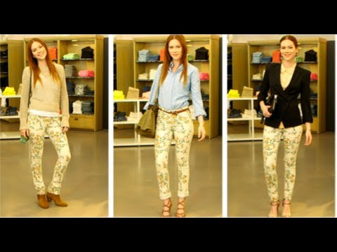 Printed Floral Jeans Trend, Style Tips, Currently Trending