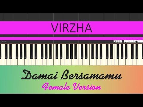 Download  Virzha - Damai Bersamamu FEMALE Karaoke Acoustic by regis Gratis, download lagu terbaru