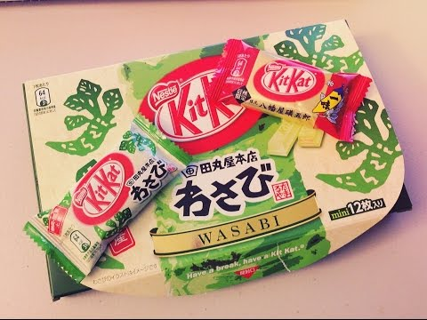 Japanese KIT KAT Tasting at Brunch Adventures Vlog - Wasabi and Yawatayaisogoro Ichimi