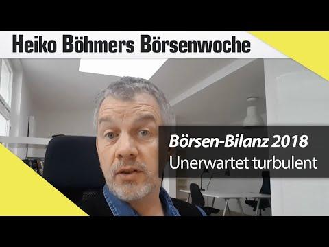 Börsen-Bilanz 2018: Unerwartet turbulent
