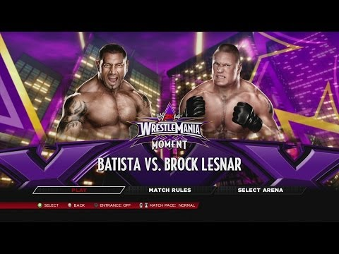 "WWE.com WrestleMania XXX Dream Card Match 5 - ""The Animal"" Batista vs. ""The Beast"" Brock Lesnar"