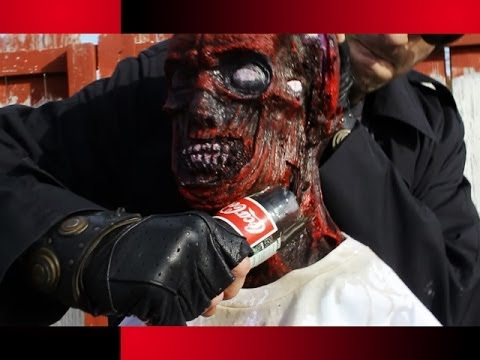 Can a Coca-Cola Bottle KILL a ZOMBIE?! with CrazyRussianHacker!