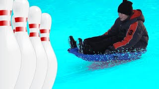 [SLED BOWLING!] Video
