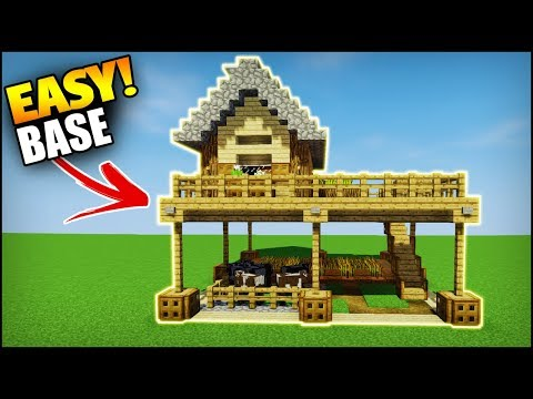 Minecraft: Beginner Starter House/Base Tutorial - How to Build a House in Minecraft