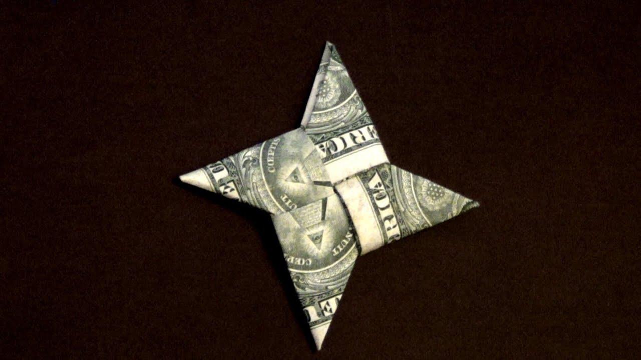 Dollar Origami Ninja Star How to make a Dollar Ninja Star ... - photo#1